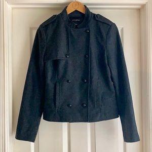 🧥Banana Republic grey military pea coat